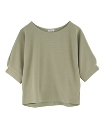 Dolman sleeve pullover with button(Green-Free)