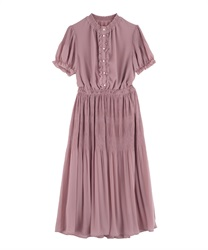 Majolica Pleated Long Dress(DarkPink-Free)