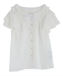 Frilly blouse(White-Free)