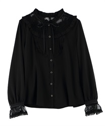 Lacey blouse(Black-Free)