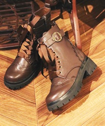 Track sole boot(Brown-S)