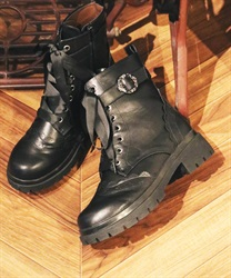 Track sole boot(Black-S)