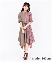 Bi-Collar Irehem Dress(Red-Free)