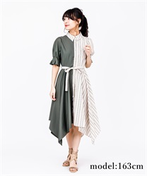 Bi-Collar Irehem Dress(Beige-Free)