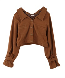 Back Lace up jacket(Brown-Free)