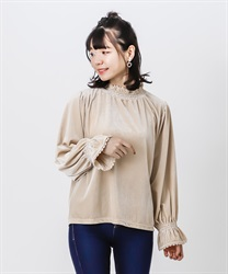Cut velour pullover(Beige-Free)
