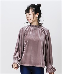 Cut velour pullover(Lavender-Free)