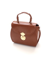 Buckle shoulder bag(Brown-M)