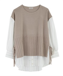 Layered-style Docking Pullover(Beige-Free)