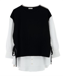 Layered-style Docking Pullover(Black-Free)
