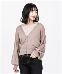 Sheer Knit Cardigan(DarkPink-Free)