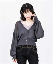 Sheer Knit Cardigan(Chachol-Free)