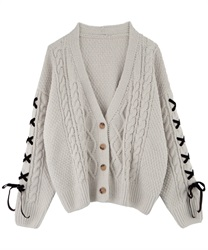 Knit cardigan_AS161X16(Ecru-Free)