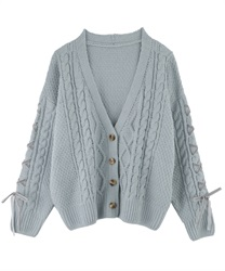 Knit cardigan_AS161X16(Green-Free)