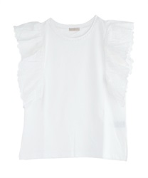 【2Buy20%OFF】Cotton Lace Ruffle PO(White-Free)