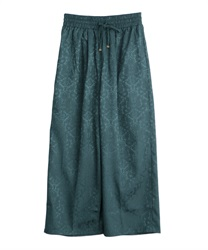 Ornament jacquard pant(Green-Free)