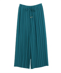 pleated wide legged pants(Blue green-Free)