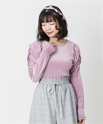 Marshmallow velor pullover(Purple-Free)