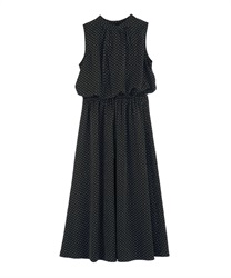 【2Buy10%OFF】Dotted Sleeveless Dress(Black-Free)