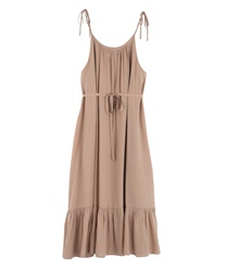 【2Buy10%OFF】A-line dress(Beige-Free)