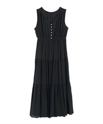 Tiered Long Dress(Black-Free)
