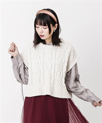 Shirt tunic with knit vest