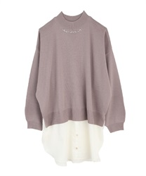 Layered style tunic ribbon on back(Lavender-Free)