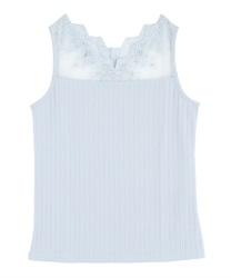 Delicate Lace Tank(Saxe blue-Free)