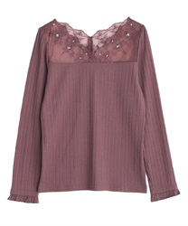 Delicate lace long sleeve inner