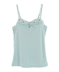 Lace camisole with padding.(Green-Free)