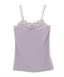 Lace camisole with padding.