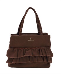 Canvas Tote Bag with Pockets(Brown-M)