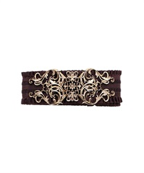 Classical motif rubber belt(Antique gold-M)