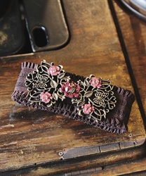 Rose×butterfly design rubber belt(Gold-M)