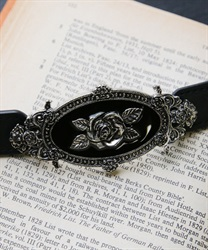 Roses oval rubber belt(Silver-M)