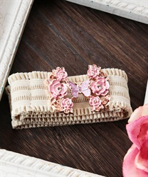 Sugar roses rubber belt(Pale pink-M)