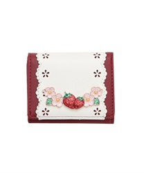 Sweet Strawberry Trifold Wallet(Wine-M)