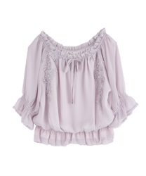 Willow Chiffon Blouse(Pale pink-Free)