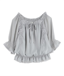 Willow Chiffon Blouse(Grey-Free)