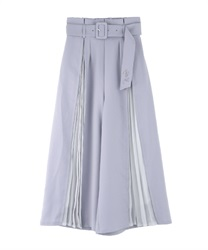 Slit pleated pants