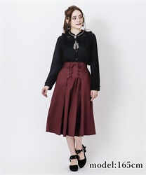 Lace-up skirt(Wine-Free)