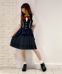 Classic College Skirt(Navy-Free)