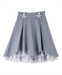 High waist illehem skirt(Grey-Free)