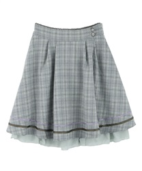 Back ruffle skirt(Green-Free)