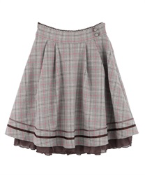Back ruffle skirt(Brown-Free)