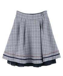 Back ruffle skirt(Navy-Free)