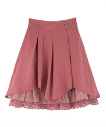 Tuck design skirt(DarkPink-Free)
