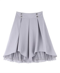 Tuck design skirt(Grey-Free)