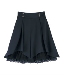 Tuck design skirt(Navy-Free)
