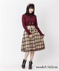 【10%OFF】Check pattern skirt(Beige-Free)